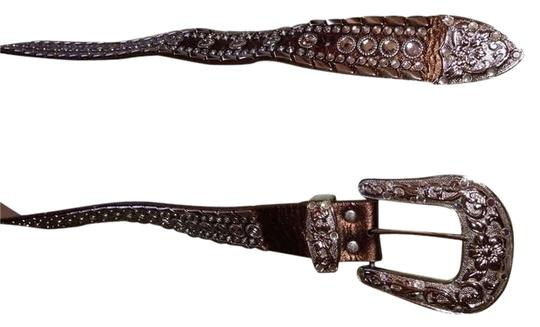Other Genuine Italian Leather Studded Belt