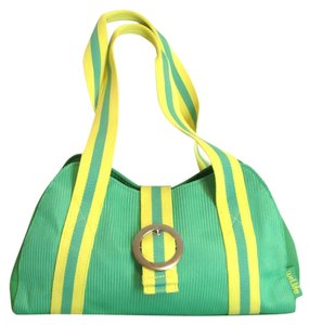 Curl.Life Satchel in Green Yellow