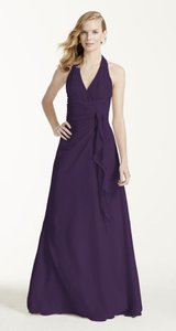 David's Bridal Purple Lapis F12688 Dress