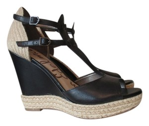 Sam Edelman Black and Natural Sandals