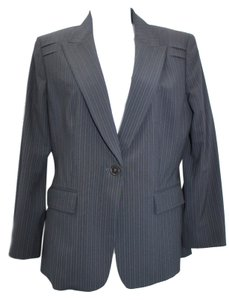 Elie Tahari Striped Single Breasted Stretch Blazer