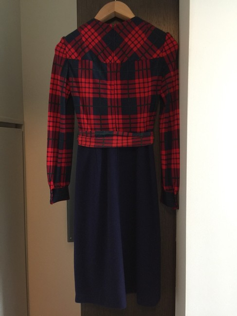 Oscar de la Renta Plaid Holiday Dress