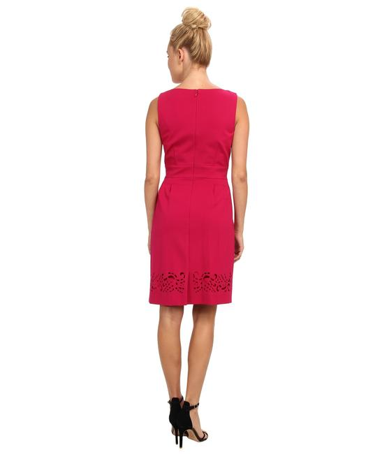 Tahari short dress Fuschia on Tradesy