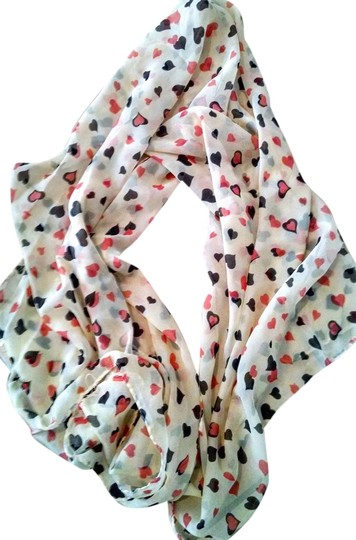Other New Hearts Chiffon Scarf 60 Inches Long P1445