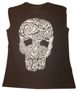 Happiness is a 10 dollar tee Skull Gothic T Shirt Dark gray