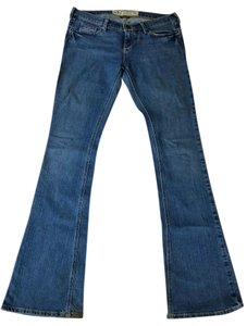 Hollister Size 1 Regular Medium Wash Denim Boot Cut Jeans-Medium Wash