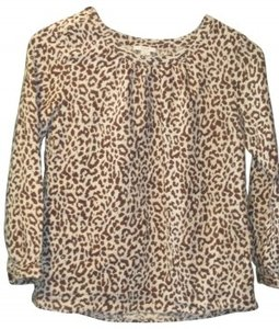 J.Crew Top Brown Leopard