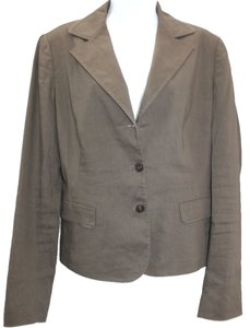 Elie Tahari Brown Linen Jacket Blazer