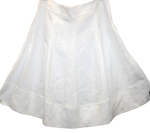 Other Linen Pleated Skirt WHITE