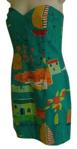David Meister short dress MULTICOLOR Beach Scene on Tradesy