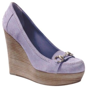 Gucci Lilac Suede Wedges