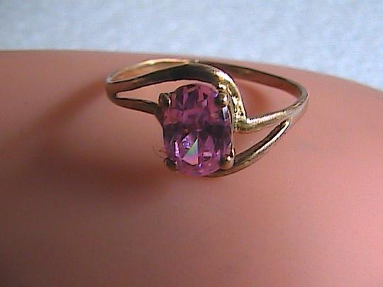 Other 10k Yellow Gold 1.0 Cts Pink CZ Ring