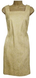 Evan Picone short dress Cream/Pale Beige Sleeveless Knee-length Sheath on Tradesy