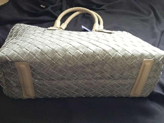 Other Braided Shoulder Shoulder Patent Tote in Gray