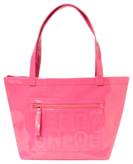 Preload https://item4.tradesy.com/images/see-by-chloe-large-faux-leather-hot-pink-pvc-tote-4003588-0-0.jpg?width=440&height=440