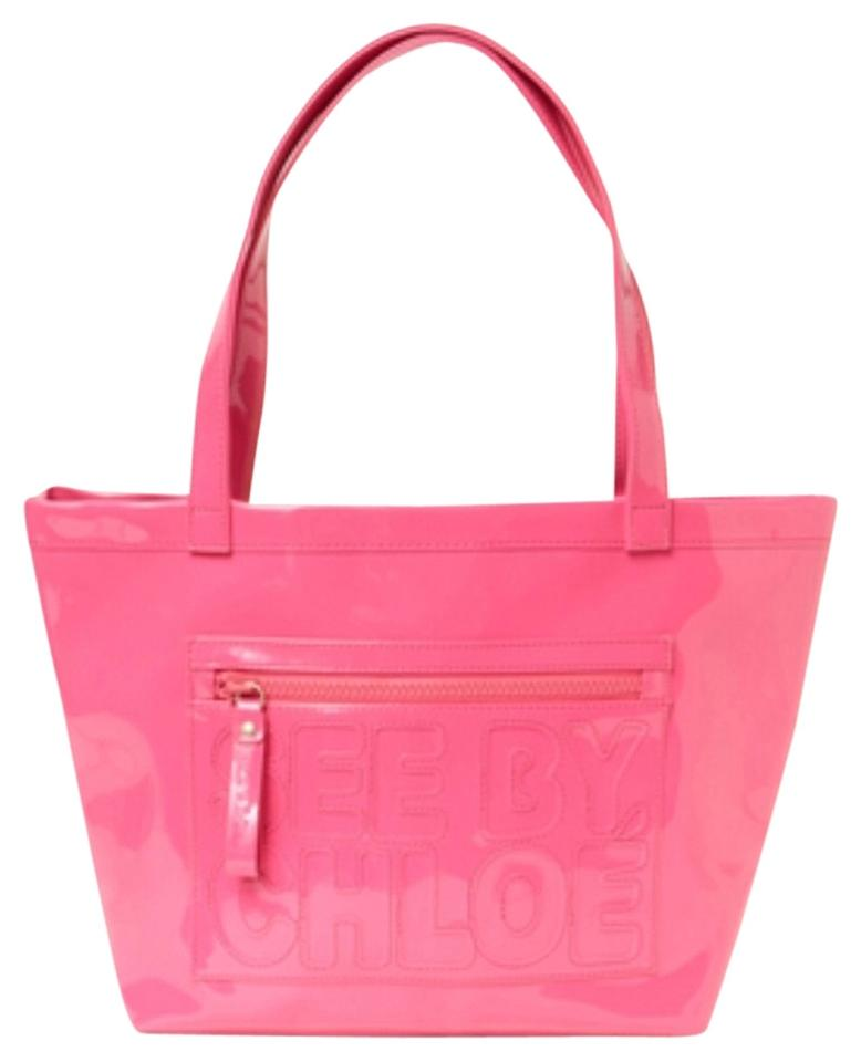 knockoff chloe bag - See by Chlo�� Large Faux Leather Hot Pink Tote Bag on Sale, 54% Off ...
