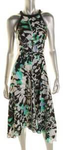 Black Multicolor Maxi Dress by DKNY