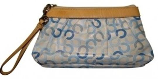 Preload https://item5.tradesy.com/images/coach-signature-blue-and-ivory-wristlet-40044-0-0.jpg?width=440&height=440