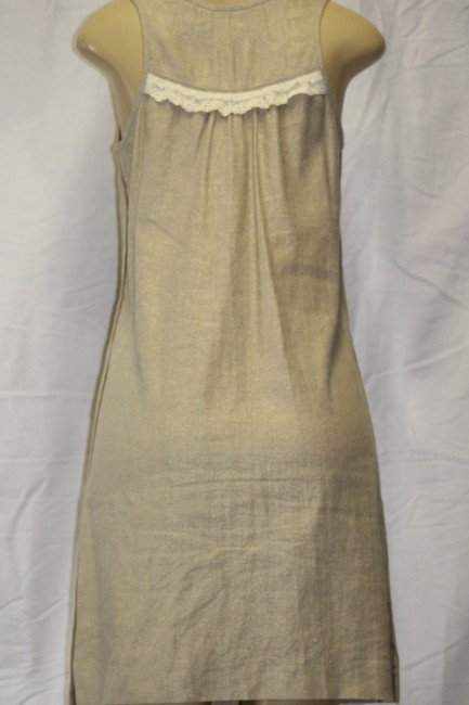 Juicy Couture short dress TAN WITH WHITE LACE DETAIL on Tradesy