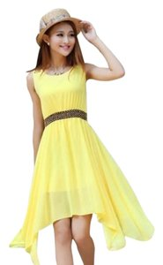 Solid Yellow Maxi Dress by Ya Lan Hua