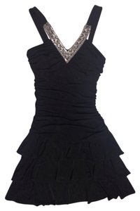 Trixxi Embellished Ruched Prom Dress