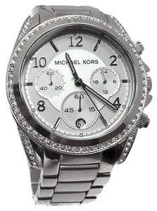 Michael Kors NEW! Michael Kors Silver-Tone Blair Pave Glitz Chronograph Women's Watch MSRP $275 ~NO TAG~