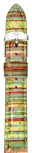 Michele MICHELE 16mm Striped Watch Band Strap Tropical MS16AA350142