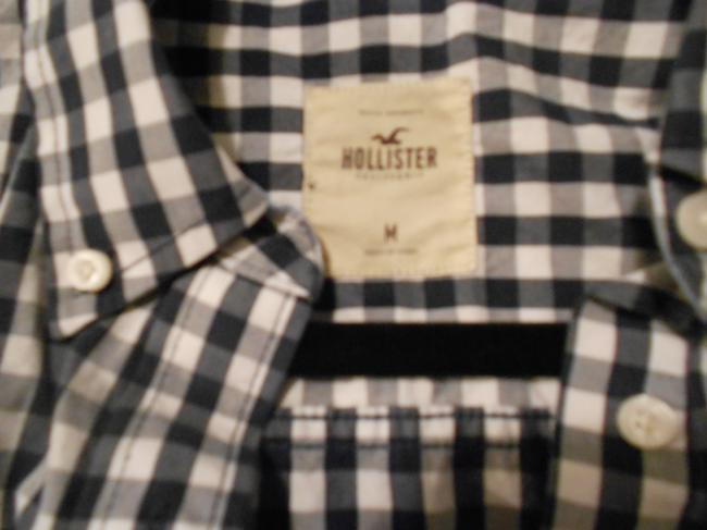 Hollister Longsleeve Button Down Shirt blue white