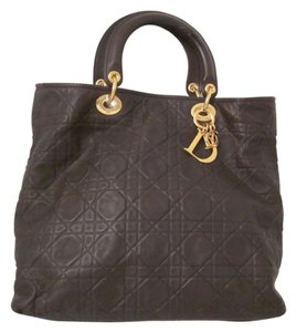 Dior Tote in Dark Brown