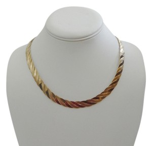 Technibond Techninond 17 Inch Rose Gold Plated Braided Necklace