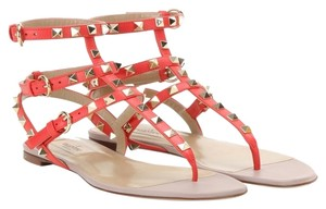 Valentino Rockstud Deep orange 35.5(EU) NWT Sandals