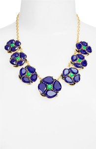 Kate Spade Blue IZU PETALS graduated necklace