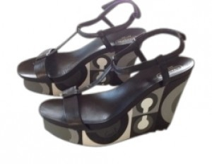 Coach Black and white Sandals