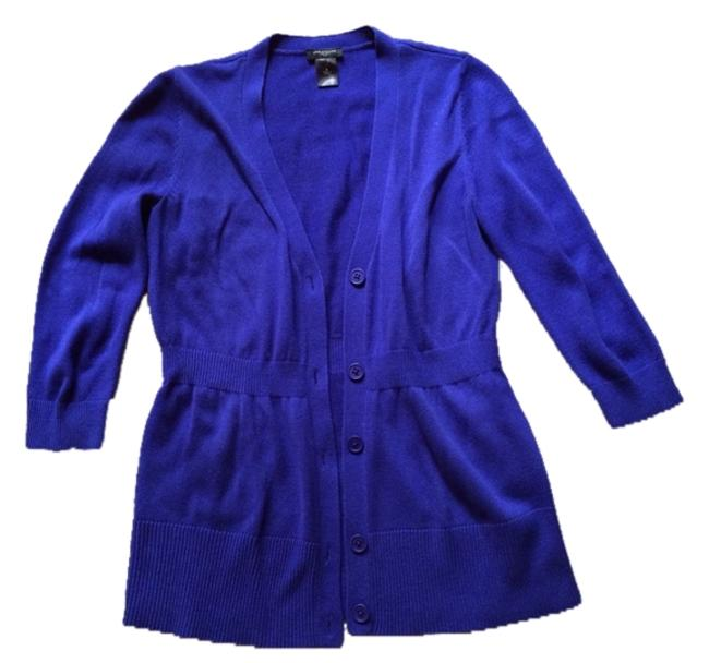 Preload https://item4.tradesy.com/images/ann-taylor-blue-belted-waist-34-sleeve-cardigan-size-6-s-4006918-0-0.jpg?width=400&height=650