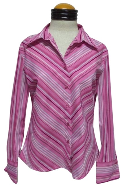 DCC Longsleeve Button Down Shirt Pink and Purple Striped