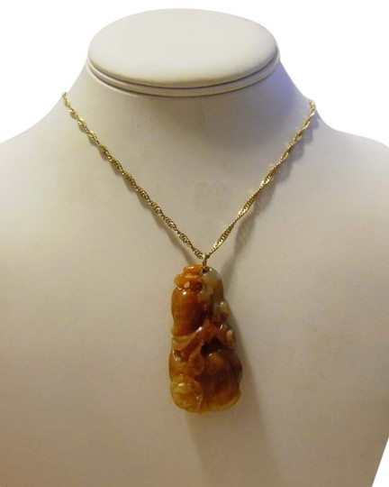 Other Chinese Green and Brown Jade Pendant