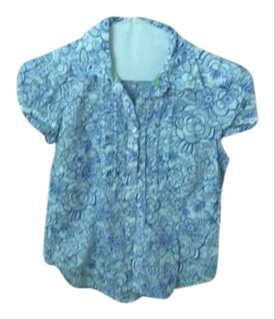 Lilly Pulitzer Top Blue and white