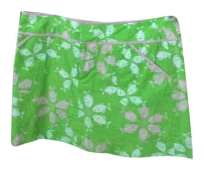 Lilly Pulitzer Mini Skirt Green, pink and white