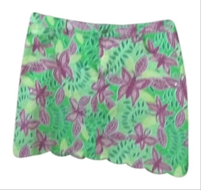 Preload https://item2.tradesy.com/images/lilly-pulitzer-pink-green-knee-length-skirt-size-8-m-29-30-4007476-0-0.jpg?width=400&height=650