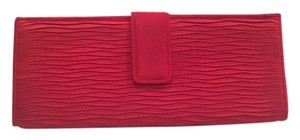 Preston & York Satin Evening Formal Red Clutch