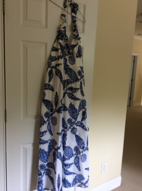 Blue/white with a gold shimmer Maxi Dress by Lilly Pulitzer