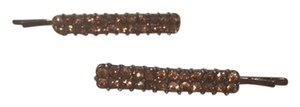 Francesca's Brown rhinestone hairpins