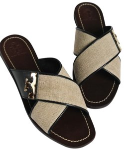 Tory Burch NATURAL BLACK Sandals