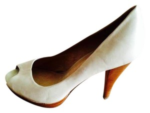 Franco Fortini Nude Nude 4inch Four Inches High Heels Heels Cream/Tan/Wood/Soft White/Off White Pumps