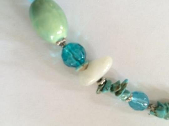 Other Turquoise and White 17 inch necklace