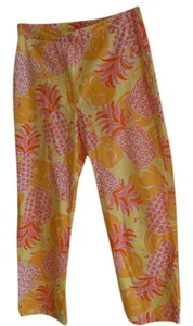 Lilly Pulitzer Pants Pineapples Oranges Capris MULTICOLOR