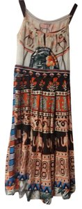 McGinn short dress Multi Color: orange, brown, turquoise/natural background Summer Print Midcalf on Tradesy