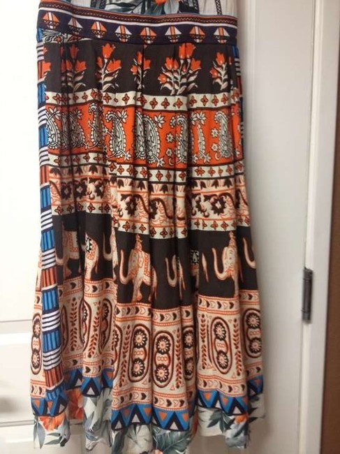 McGinn short dress Multi Color: orange, brown, turquoise/natural background Summer Print Midcalf Cotton on Tradesy