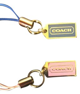 Coach Coach Authentic 2-Peice Purse Or Cell Phone Charms, 1 Blue, 1 Light Pink Both PERFECT CONDITION! Retail For Both $76