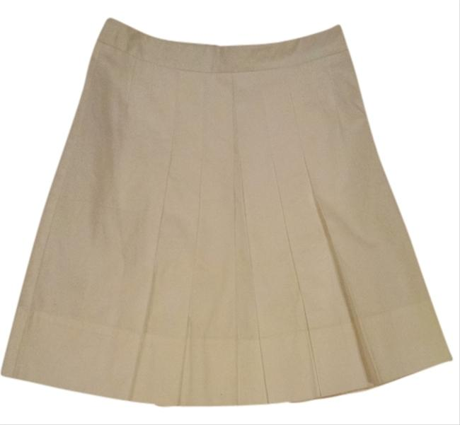 Ann Taylor Pleated Skirt White